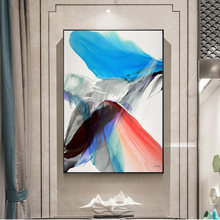 Abstract Colorful Feathers Canvas Paintings On The Wall Posters And Prints Modern Wall Art Canvas Prints Art Pictures Home Decor(China)