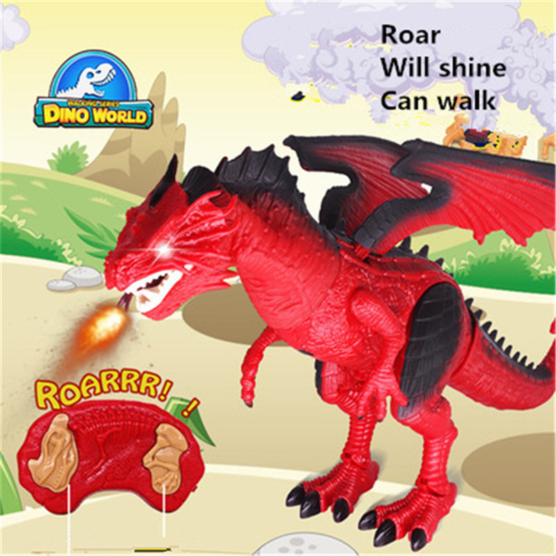 Oversized simulation Jurassic dinosaur hand action flame dragone lectric remote control toys for children Christmas gifts wiben jurassic pterosauria dinosaur toys action