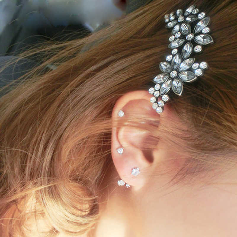 1 шт. свадебные шпильки для волос элегантная Цветочная заколка для волос Кристаллы Стразы заколки для волос аксессуары для женщин девочек barrettes