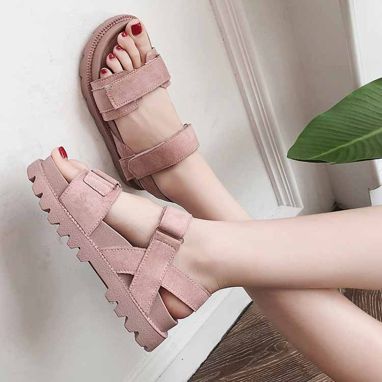 Women shoes adult solid sandals women 2019 fashion med heel height women sandals flat with casual shoes woman sandals female  (22)