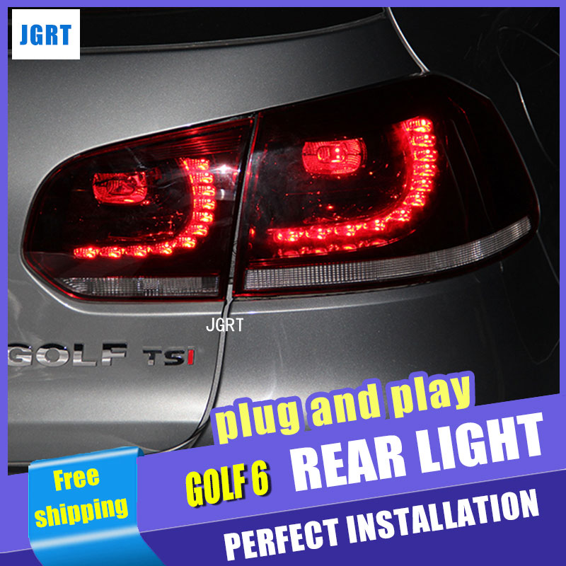Car Styling for VW Golf 6 Taillight assembly 2009 2012 Golf 6 R LED Tail Light Golf 6 Rear Lamp LED DRL+Brake with hid kit 2pcs.