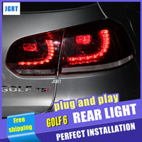 A T Car Styling For VW Golf 6 Taillights 2009 2012 Golf 6 R LED Tail