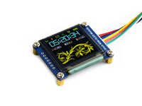 Waveshare 128x128, General 1.5inch RGB OLED display Module, 16-bit high color, Display color: RGB, 65K colors