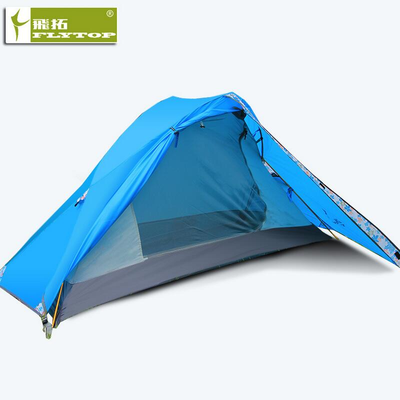 FLYTOP Waterproof 1 Persoon Tent Camping Outdoor Fishing Travel Single Tents Double Layer Aluminum Alloy Pole Hiking Beach Tent outdoor camping hiking automatic camping tent 4person double layer family tent sun shelter gazebo beach tent awning tourist tent