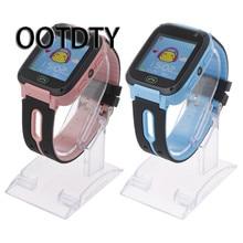 Купить онлайн Ootdty Смарт-часы Сенсорный экран q528 GPS трекер Smart наручные часы анти-потерянный Для детей sos-вызов