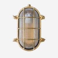 Сзади арматура светильника для зеркала светодиодный настенный светильник спальня Медь Ванная комната настенные бра Waterfool Наружное освещен