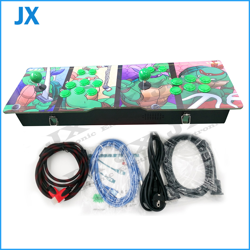 Turtles design TV jamma arcade game console Pandora's box 4S/4S+ 680 in 1/800 in 1/815 in 1 VGA HDMI USB output can pause