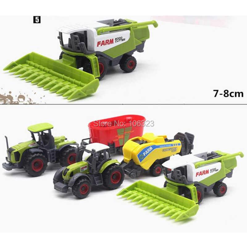 5 Buah/Set, Die-Cast Logam Kendaraan Pertanian Model Kombinasi dengan Bagian Plastik, pertanian Mobil Traktor Trailer Kolektor Edition