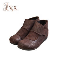 Tayunxing Genuine Leather Handmade Shoes Ankle Women Boots Wedges High Heel Comfort 239 5