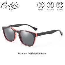 ea480e8970 CALIFIT Oval Graduated Prescription Glasses Women Myopia Astigmatism Color  Tint Degree Glasses For Women Progressive Polarized