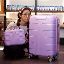 style suitcase 13+22 inch baggage units, common wheels rolling baggage, ladies boarding luggage, spinner suitcase with lock