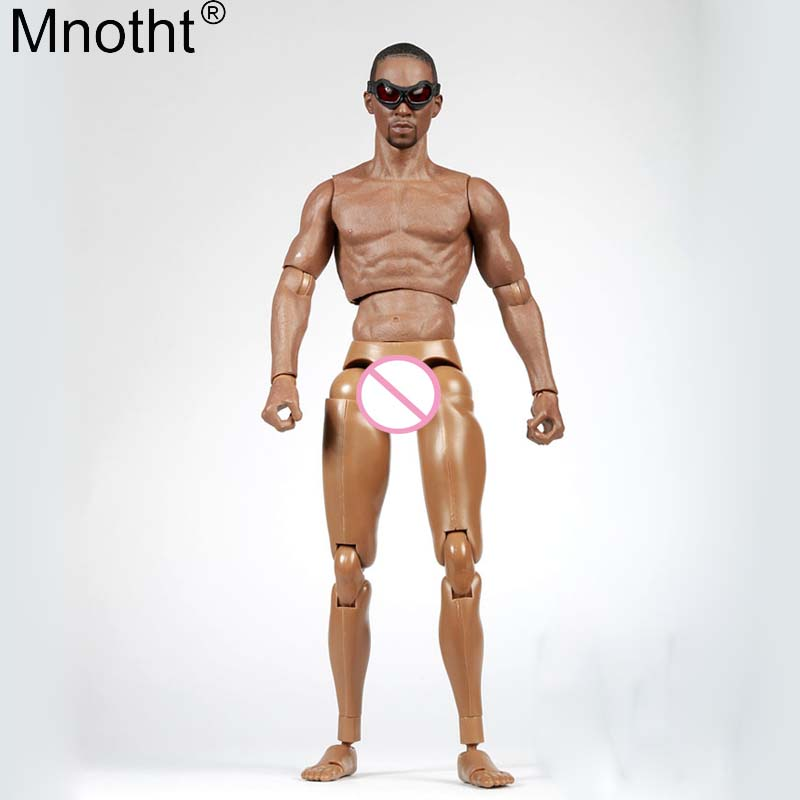 купить Mnotht 1/6 Black Men Head Sculpt Vegetarian Suit Eye Patch Flexible Muscle Male Body Model for 12in Toys Soldier Action Figure e по цене 2753.47 рублей