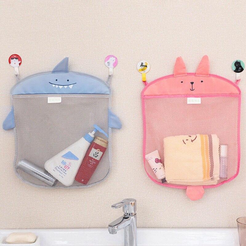 2019 Unique Creative 1pc Baby Bathroom Mesh Bag Child Bath Toy Bag Net Suction Cup Baskets Baby Bath Wash Funny Toys Storage
