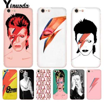 Yinuoda David Bowie Coque Shell Phone Accessories Case for iPhone 8 7 6 6S Plus X 5 5S SE 5C XS XR Cover11 11pro 11promax image