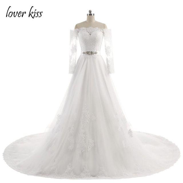 Liebhaber Kuss Sexy A Line Bloße Spitze Hochzeitskleid 2017 Vintage ...