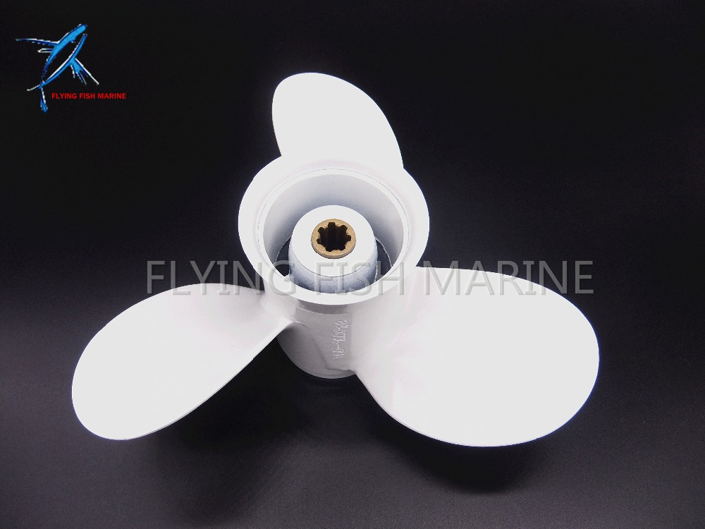 Aluminum propeller 8 1/2 x 7 1/2-N for Yamaha 6hp 8hp 9.9hp F6 F8 F9.9 Boat Engines 6G1-45943-00-EL 8 1/2x7 1/2-N boat engines 2e