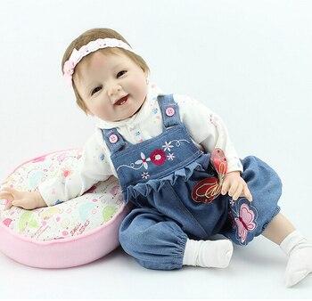 Hot silicone neonati rinato bambole, regalo per il bambino capretto, classico giocattolo della casa del gioco sonno con la ragazza brinquedos bambino reborn doll giocattoli 1