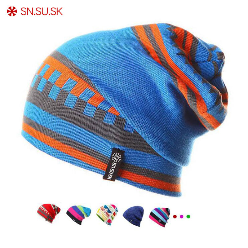SN.SU.SK Winter Gorros Brand SNSUSK Snowboard Winter Hat Skating Ski Caps Skullies And Beanies For Men Women Hip Hop Caps