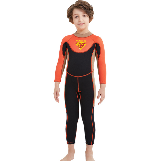 DIVE SAIL 2.5MM Children One Piece Long Sleeves Diving Wetsuits Neoprene  Diving Suits Boys Girls UV 19b04662d