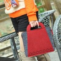 Sale New Green Hollow Out Briefcase 11 Eco Friendly Felt Material Women Businessman Laptop Briefcase