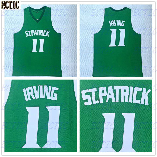 bf9adf609e6b ... norway 2018 new cheap throwback basketball jersey kyrie irving 11 st. patrick  high school jerseys