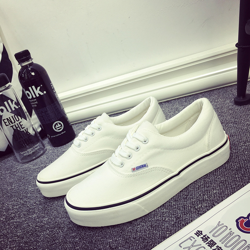 Spring Shoes For Women Korean Couple Canvas Shoes White Shoes Sports Skateboarding Women Shoes Female Students Tide Flat