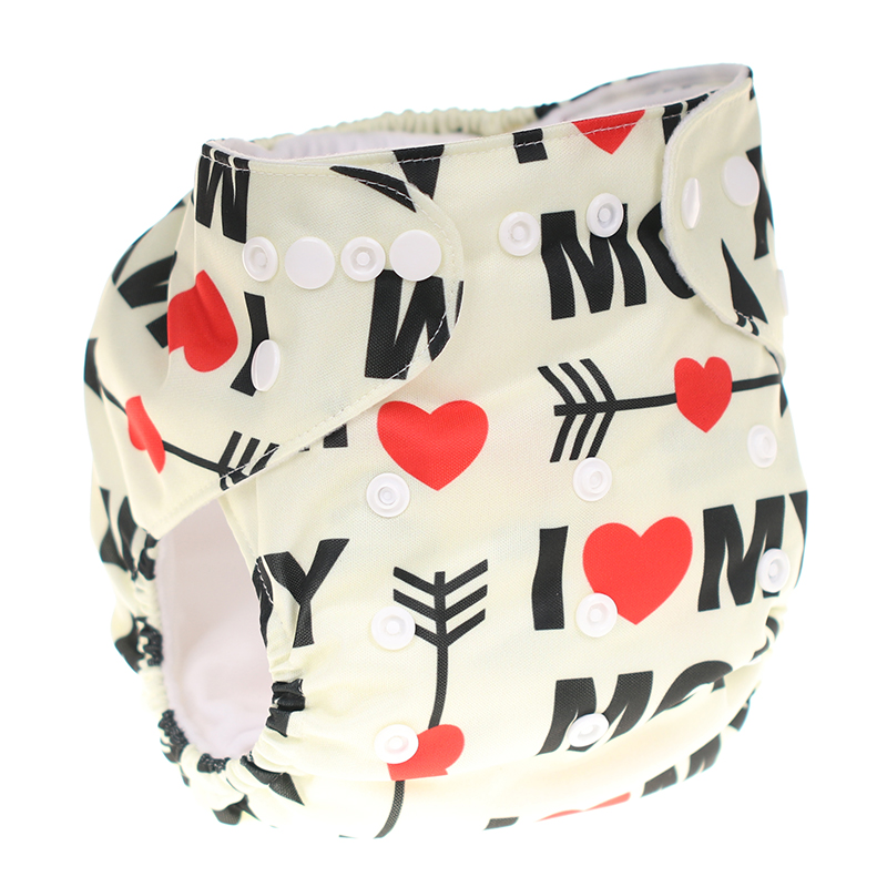 CHOOEC 2019 New One Size Baby Washable Reusable Pocket Cloth Diapers Double Breasted Digital Integrated Flower Pattern pant in Baby Nappies from Mother Kids