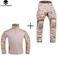EMERSONGEAR Новый G3 Combat Uniform охота в стиле милитари рубашка с камуфляжем Мультикам тактические брюки с наколенниками AOR1 Desert