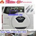 For Chery Tiggo3 Tiggo 3 2014 2015 2016 Car ABS chrome car body rear glass wiper wash nozzle cover frame trim tail window 1pcs