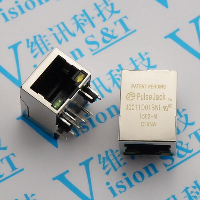5pcs  Lot J0011d01bnl Ethernet Port Connector Pulse Quality