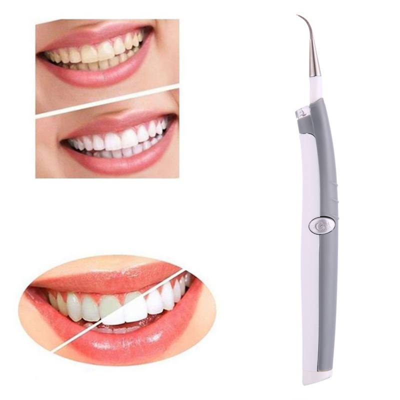 Electric Sonic Pic Tooth Stain Eraser Plaque Remover Dental Cleaning Tool Kit Tooth Teeth Whitening Polishing Dental Instrument new personal care led oral teeth clean tool kits dental hygeine explorer dental mirror plaque remove tooth stain eraser