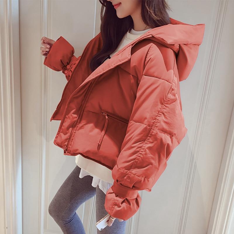 pink Femmes Puffy green red Court D'hiver Veste Étudiant Manteau Rose Solide Qualité Pain black Ivory Haute Hoodied Ins 2018 yellow Parka Femelle Chaud wHqXPRH