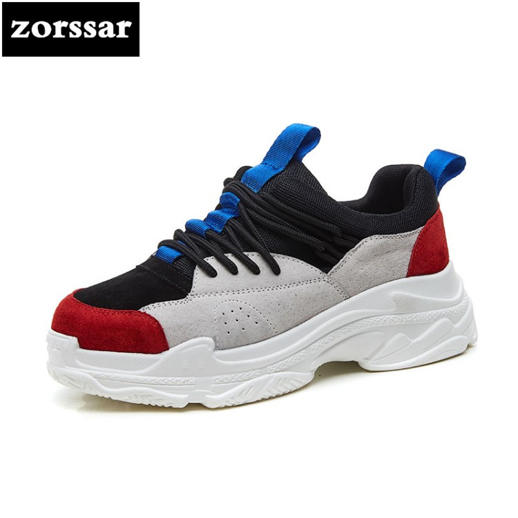 {Zorssar} Brand 2018 New Fashion Spring Autumn Casual sport shoes Women Sneakers Casual platform Flat Shoes Woman Dad Shoes spring and autumn new women fashion shoes casual comfortable flat shoes women large size pure color shoes