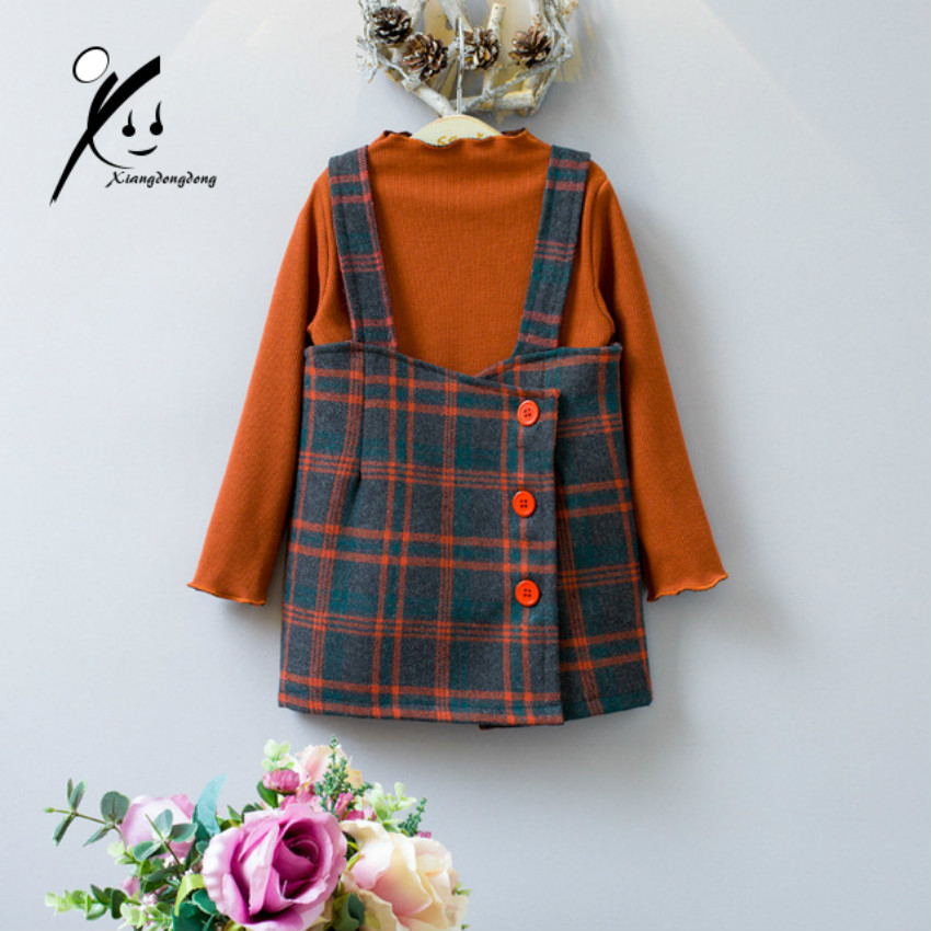 New Girls Clothing Sets O-neck Cotton 2017 Velvet Girl Suits Autumn Winter Fashion Long Sleeve+Plaid Skirt 2PC Children Clothes action camera ultra hd 4 k 30fps wifi sport cameres original eken h8 h8r 2 0 170d dual len underwater waterproof helmet cam
