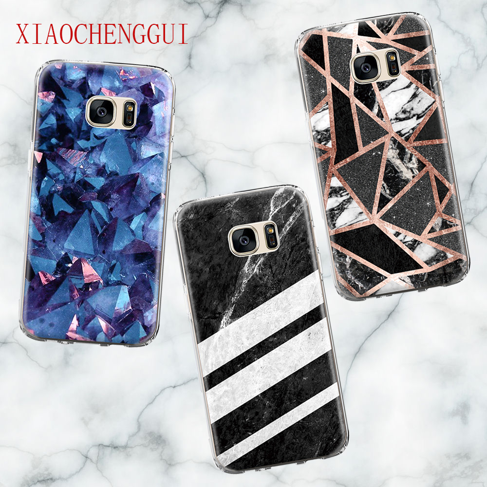 For Galaxy s8 S9 Case Crack Marble Stone Phone Case for Samsung Galaxy S5 S6 S6edge S7 S8plus S9Plus Grand Prime Silicone Case