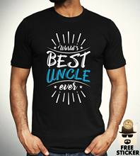 Worlds Best Uncle T shirt Family Cool Birthday Gift Present Tee Mens Top S - XXL(China)