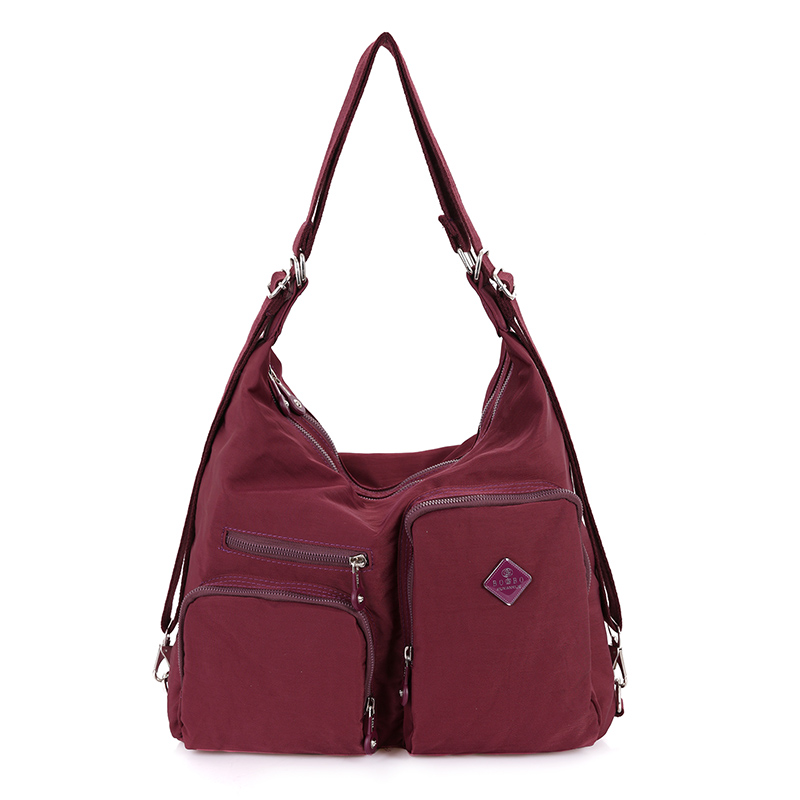 Mujeres bolsa de mensajero de nylon de color caramelo bolsos femeninos manera de