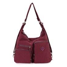 Frauen umhängetasche candy farbe nylon handtaschen weibliche casual tote mode crossbody umhängetasche für frauen back tasche