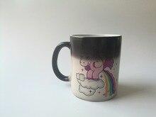 Einhorn becher einhorn tasse kaffee tassen Tee tasse wärme offenbaren becher kalten hot sensitive tassen wärme ändernde farbe tassen