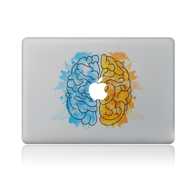 Graffiti two color brains vinyl decal laptop sticker for macbook pro air 13 inch cartoon