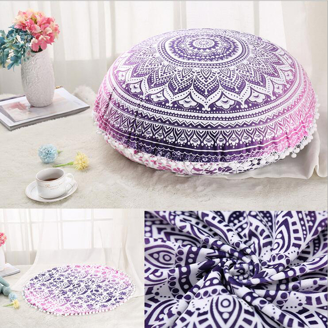 New Arrival Large Floor Pouf Pillows Indian Mandala Round Cushion