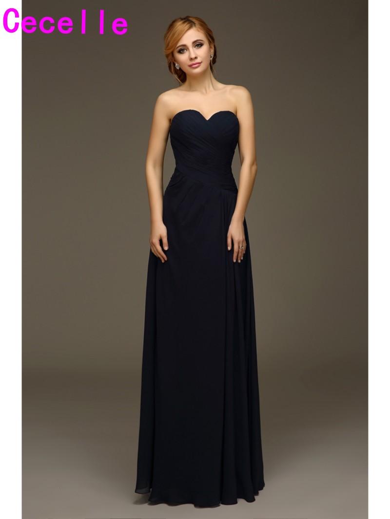 dabb056cc0 A Line Princess V Neck Floor Length Pleated Chiffon Bridesmaid Dresses
