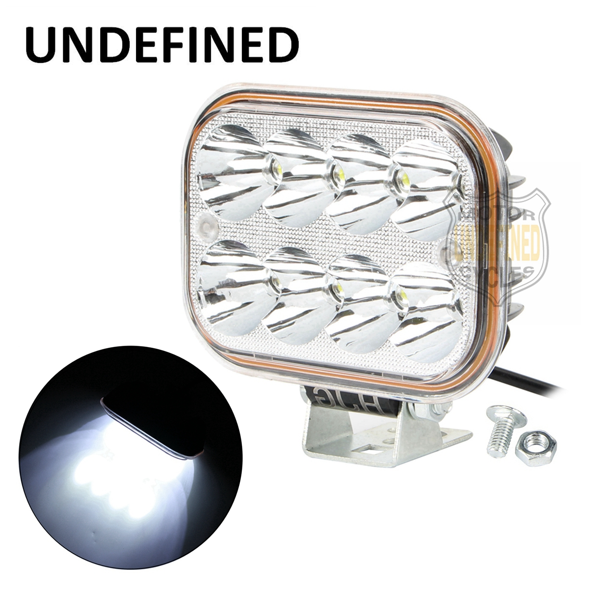 Motorbike Parts Easy To Install 24W 8 LED <font><b>12</b></font>-<font><b>80V</b></font> Driving Work Spot Head Front Spotlight <font><b>Light</b></font> High Low Beam UNDEFINED image