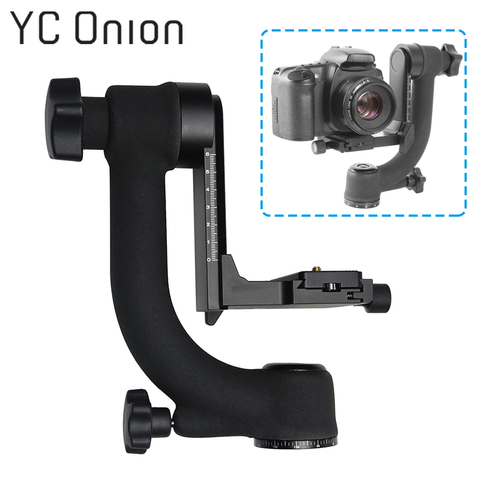 Professional 360 Degree Panoramic Gimbal Tripod Head with Arca Swiss Standard Quick Release Plate for DSLR Camera Telephoto Lens