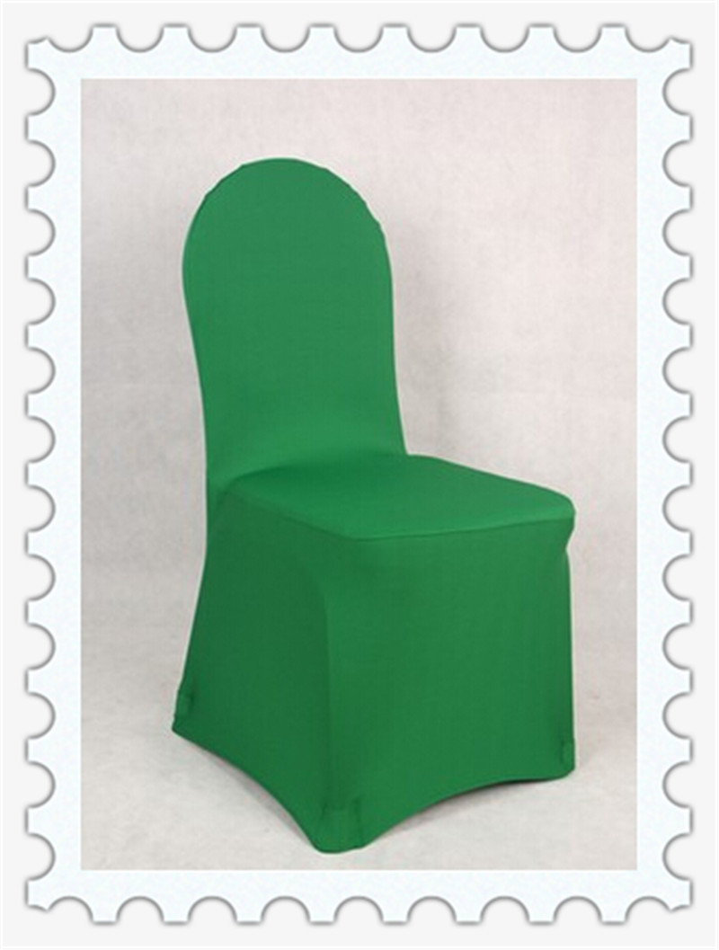 green banquet chair covers foam folding bed uk lycra for wedding easy to use spandex chairs