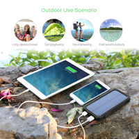 2017 Portable Solar Charger Solar Power Bank 15000mah With LED Lamp for iPhone6s 7 samsung s6 s7