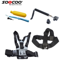 Soocoo на спорт действий Камера Accessores комплект для GoPro soocoo на C50/C30/C30R/C10S/S70/S60 /S60B/C10/S33WS Gopro Hero Hero4 SJ4000