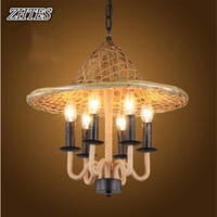 Retro Panthers Chandeliers Restaurant Bamboo Chandelier Lights Cap Chandeliers Lights