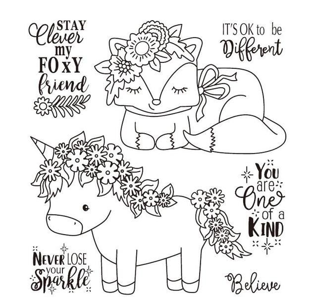 unicorn Clear Stamp Or stamp for DIY Scrapbooking/Card Making/Kids Fun Decoration Supplies A036