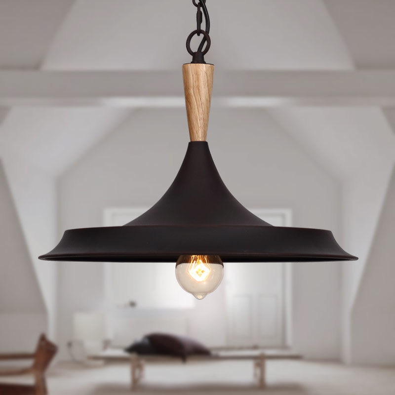 Rural American loft retro industrial iron wood single head chandelier bar dining room lighting мышь logitech m105 black 910 003116